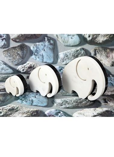 El Yapımı Mermer 3'lü Filler-3Wdesign